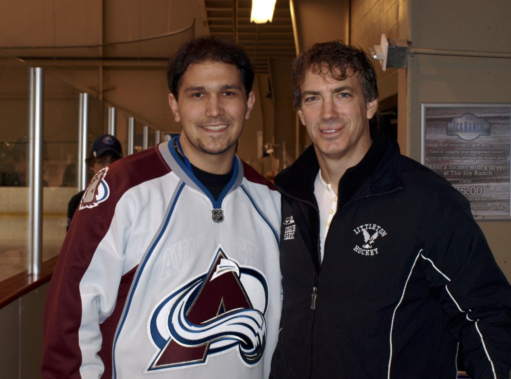 Meeting with Joe Sakic